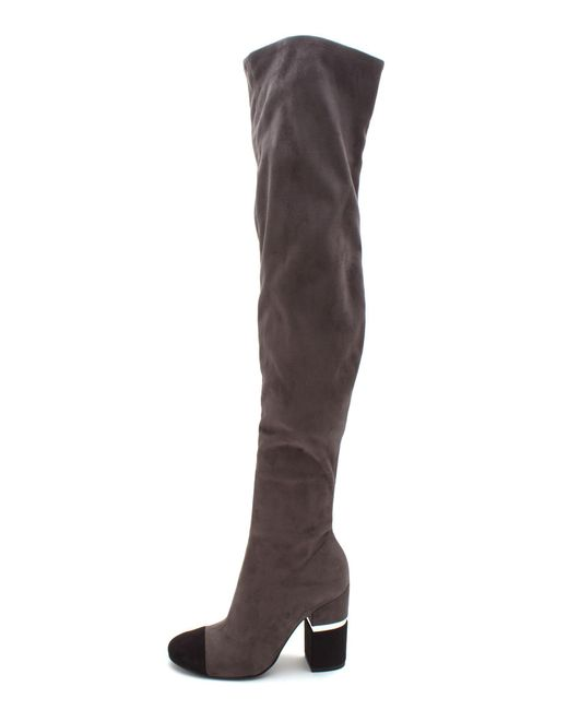 Marc Fisher - Gray Womens Petel 3 Fabric Cap Toe Over Knee Fashion Boots - Lyst