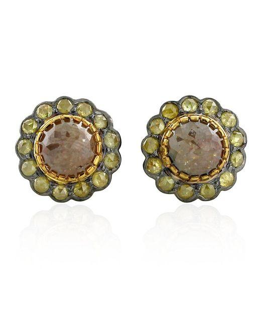 Socheec | Metallic Ice Diamond Stud Earrings | Lyst