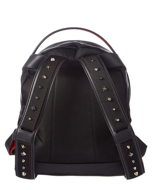 6b9d69a909b Lyst - Christian Louboutin Backloubi Small Nylon & Leather Backpack ...