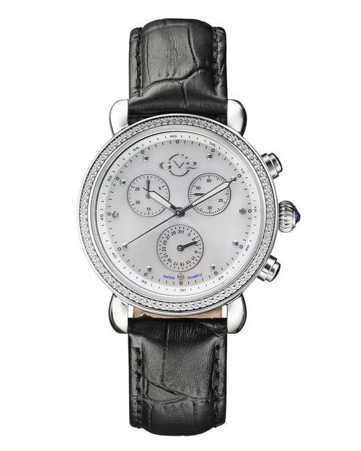 Gv2 - Gray Marsala Ss Case Grey Leather Strap Watch - Lyst