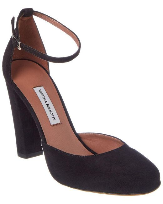 Tabitha Simmons - Black Petra Suede Ankle Strap Pump - Lyst