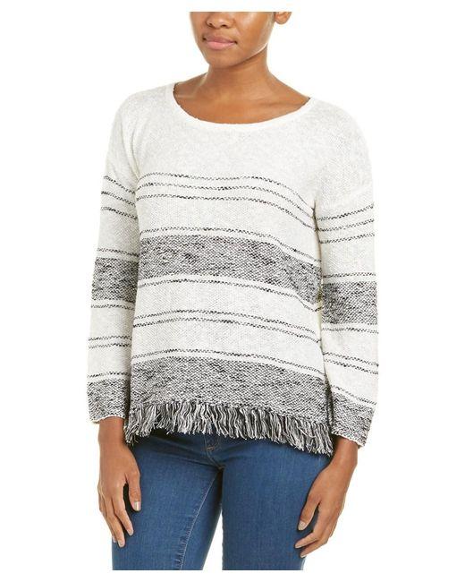 Soft Joie - Gray Kenley Fringe-trimmed Sweater - Lyst
