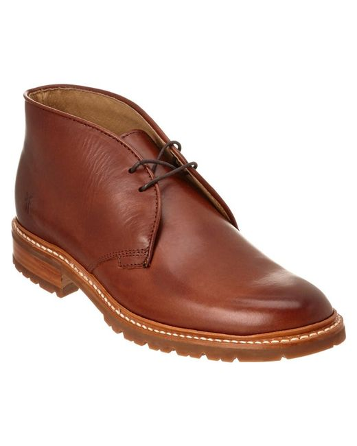 Frye - Brown Men's James Lugg Leather Chukka Boot for Men - Lyst
