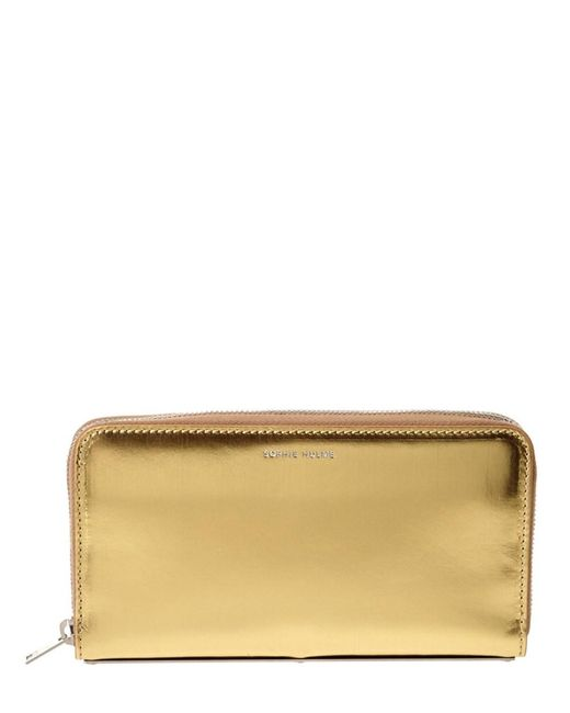 Sophie Hulme - Yellow Rosebery Metallic Leather Continental Wallet - Lyst
