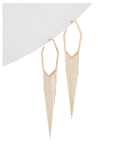 Noir Jewelry - Metallic 14k Plated Cz Earrings - Lyst