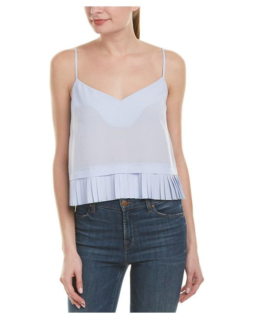 French Connection - Blue Polly Plains Cami - Lyst
