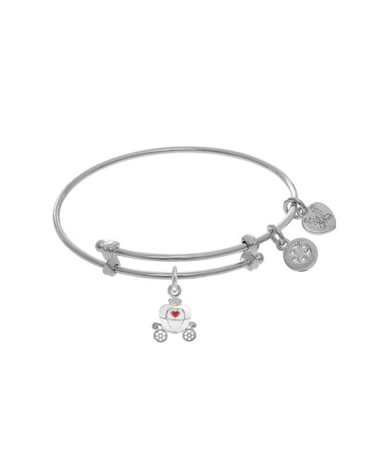 Angelica - White Princess Carriage Charm Expandable Tween Bangle Bracelet - Lyst