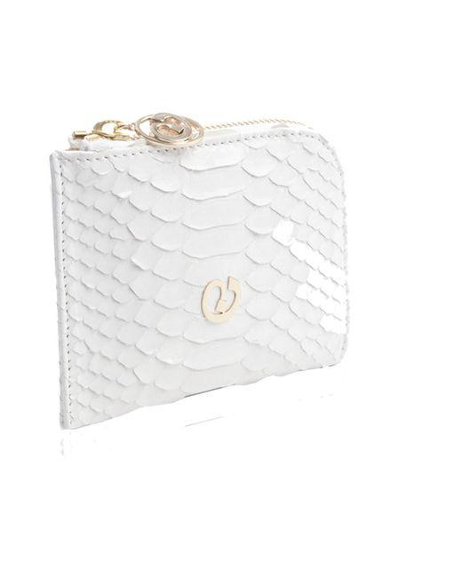 Nada Sawaya | White Medium Zip Around Python Wallet | Lyst