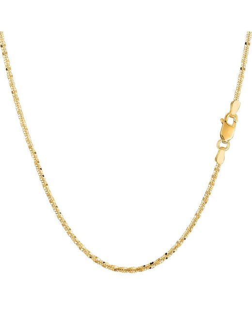 JewelryAffairs | 14k Yellow Gold Sparkle Chain Necklace, 1.5mm, 20 Inch | Lyst