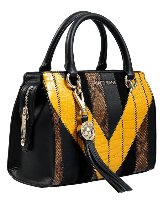 288f732aa911 Lyst - Versace Ee1vsbbp4 Eml 899+602 Black yellow Satchel in Black
