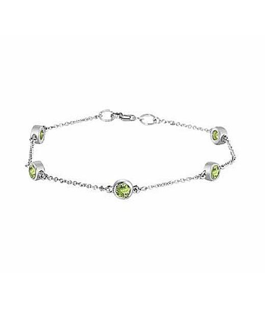 Tia Collections - Metallic .925 4mm Peridot Bracelet - Lyst