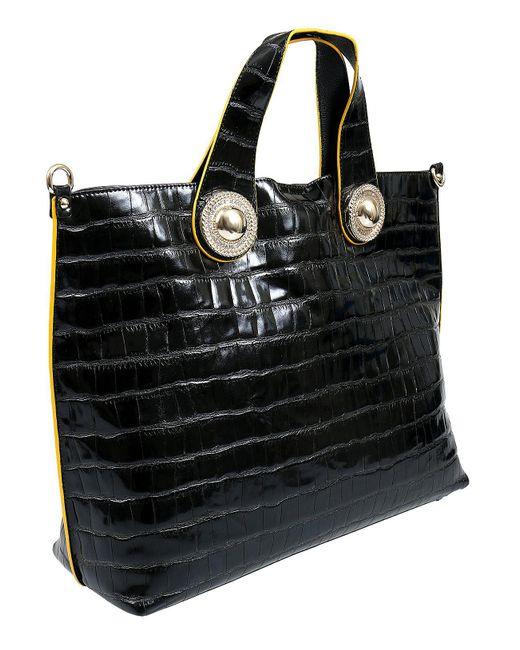 7154fd2c2d9c Lyst - Versace Ee1vsbbob E899 Black Tote Bag in Black