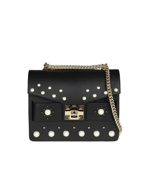 Salar - Women's Black Leather Shoulder Bag - Lyst