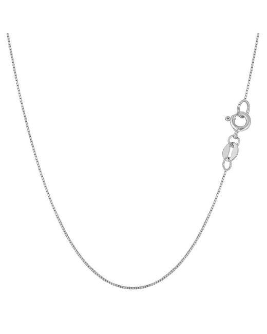 JewelryAffairs - 10k White Gold Classic Mirror Box Chain Necklace, 0.6mm, 18 Inch - Lyst