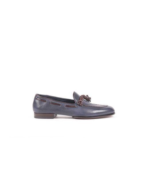 Fratelli Rossetti - Men's Blue Leather Loafers for Men - Lyst