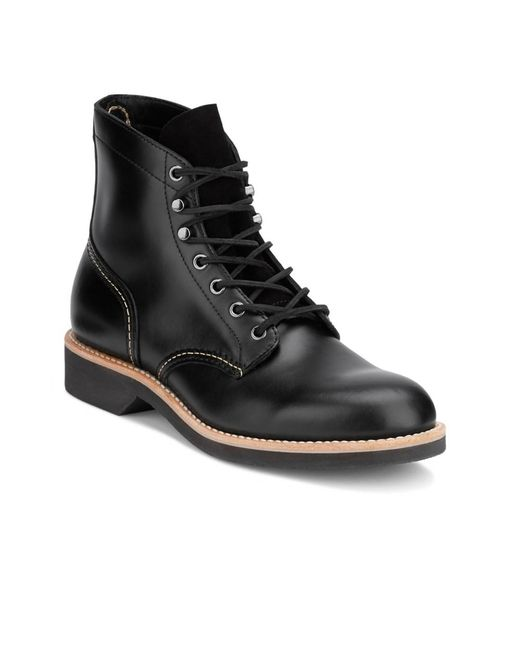 G.H.BASS - Black . Mens Reid Leather Lace-up Boot for Men - Lyst