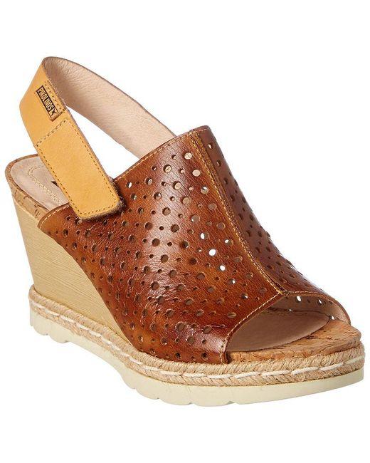 Pikolinos - Brown Bali Leather Sandal - Lyst