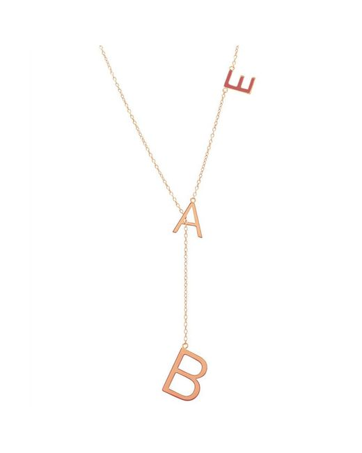 Adornia - Pink Rose Gold Vermeil Bae Lariat Necklace - Lyst