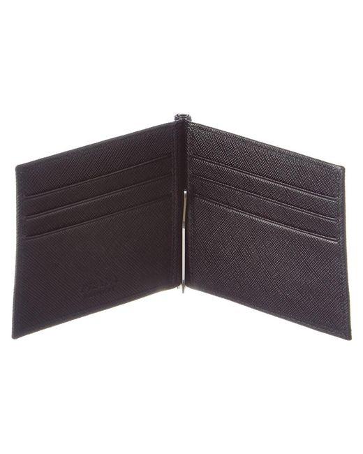 537decd2abd2 spain prada money clip wallet for men 819c5 df448