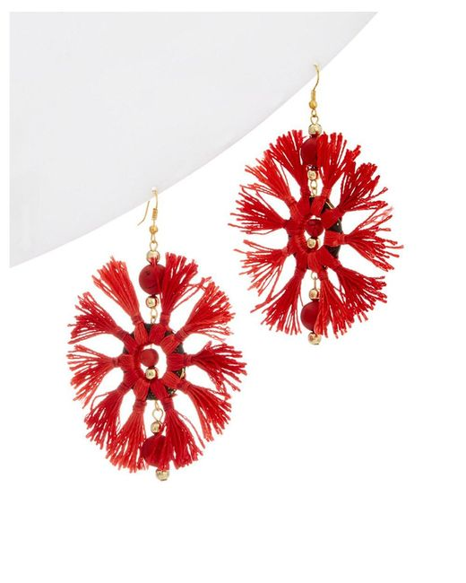Kenneth Jay Lane - Red Resin Drop Earrings - Lyst