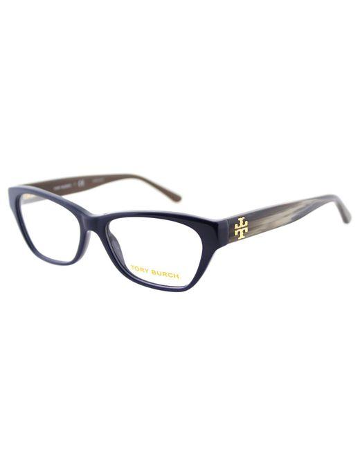 Tory Burch - Ty 2053 1409 51mm Blue Cat-eye Eyeglasses - Lyst