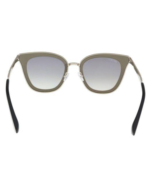 ed50727b13e ... Jimmy Choo - Metallic Lory s 0ky2 Gold  Blue Cat Eye Sunglasses - Lyst  ...