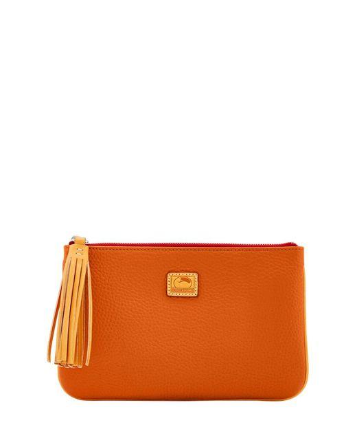 Dooney & Bourke - Orange Patterson Leather Carrington Pouch - Lyst