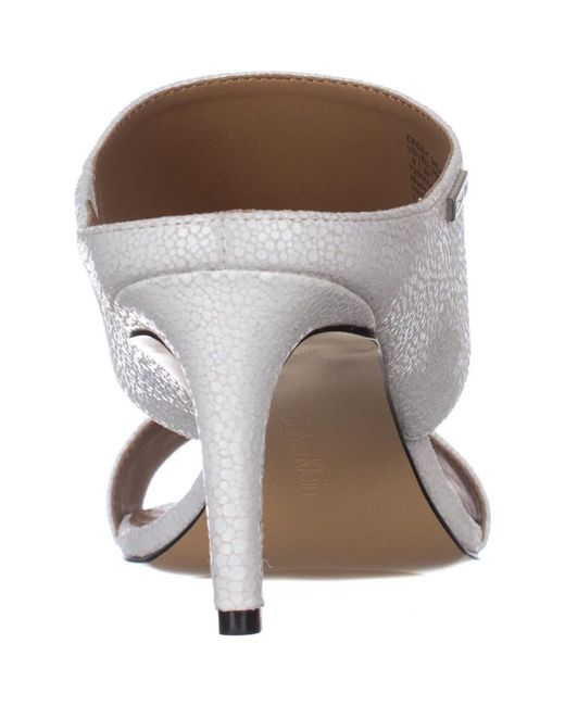 97411bc0d9e Lyst - Calvin Klein Cecily Wide-strap Mule Sandals