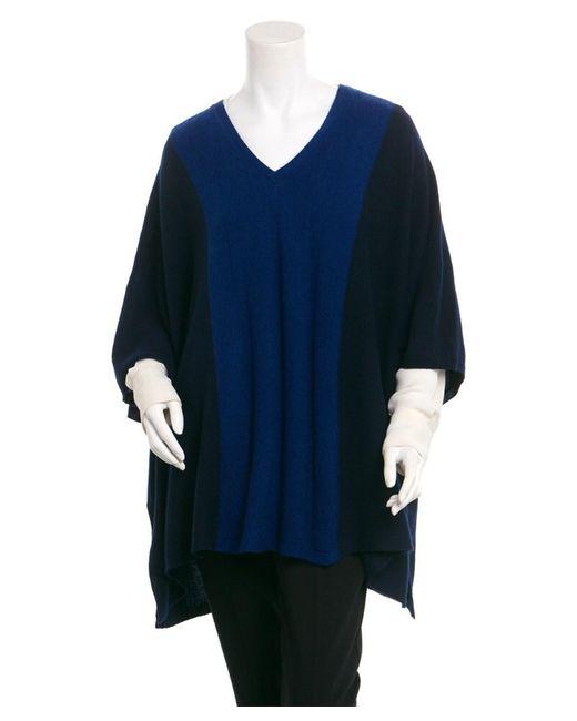 Magaschoni - Blue Cashmere Mix Stitched Poncho - Lyst