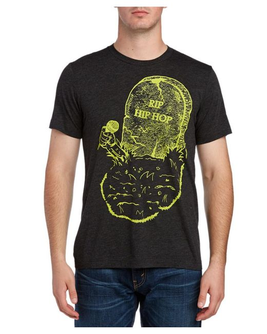 Arka - Gray Rip Hip Hop Graphic T-shirt for Men - Lyst