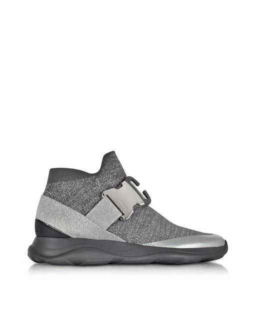 Christopher Kane - Gray Women's Grey Fabric Slip On Sneakers - Lyst