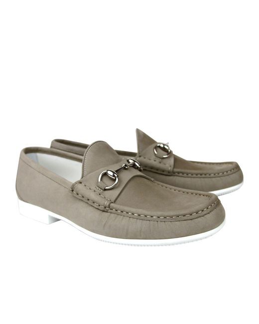 2ac3c5951cf ... Gucci - Natural Moccasin Suede Horsebit Loafer 337060 Bho00 for Men -  Lyst ...