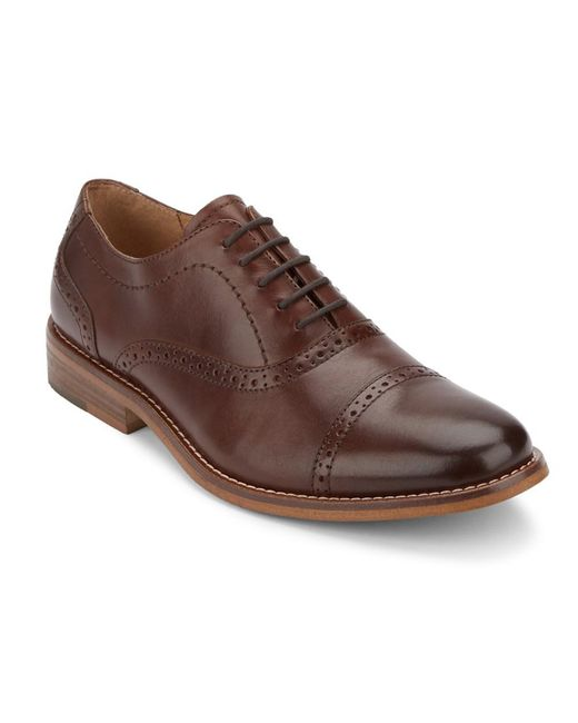 G.H.BASS - Brown . Mens Carnell Cap Toe Dress Oxford Shoe for Men - Lyst