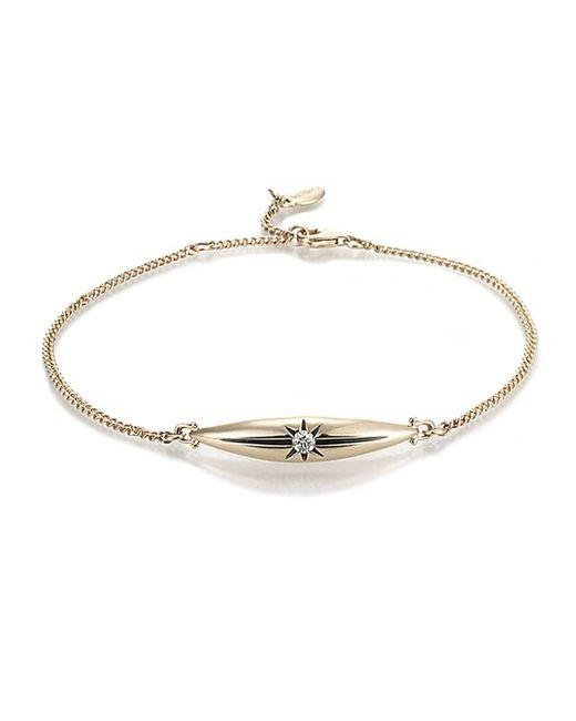 Jewelista | Diamond Marquise Star Chain Bracelet In 14k Yellow Gold (0.10 Cts, H-i, I1) | Lyst