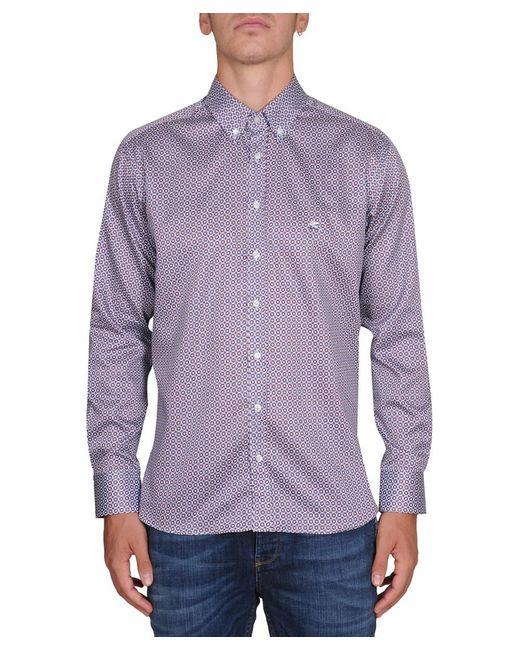 Etro | Purple Men's Multicolor Cotton Shirt for Men | Lyst