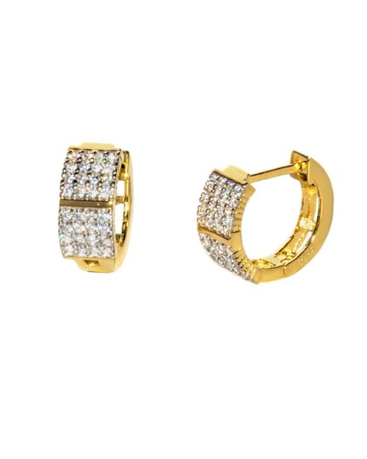 Barzel - Metallic 18k Gold Plated Sterling Silver Gold Plated Cz Huggies Earring - Lyst