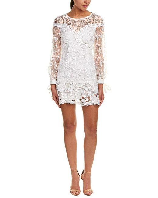 Haute Rogue - White Lace A-line Dress - Lyst