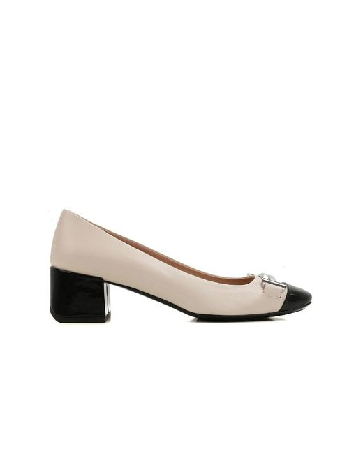 Tod's | Women's White Leather Pumps | Lyst