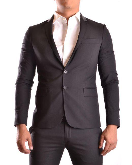 Les Hommes - Men's Black Polyester Blazer for Men - Lyst