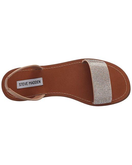 75b279bfbe9 ... Steve Madden - Metallic Womens Rock Open Toe Casual Slingback Sandals -  Lyst