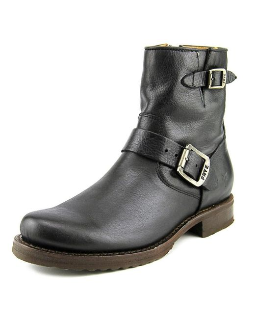 Frye | Veronica Shortie Women Round Toe Leather Black Boot | Lyst