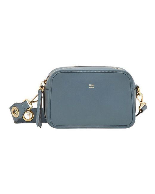 Fendi - Women's Blue Leather Shoulder Bag - Lyst