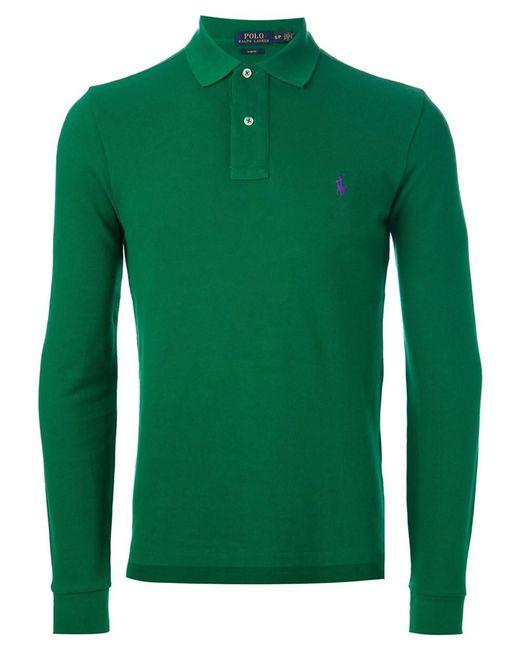 Ralph Lauren | Men's A12kj524c0004a3362 Green Cotton Polo Shirt for Men | Lyst
