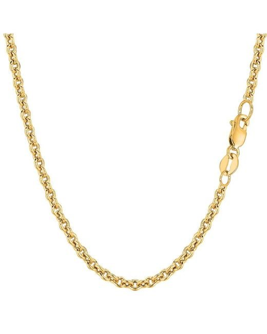 JewelryAffairs - 14k Yellow Gold Forsantina Chain Necklace, 3.1mm, 24 Inch - Lyst