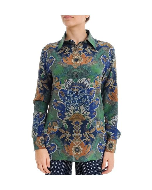 Etro | Women's Green Silk Shirt | Lyst