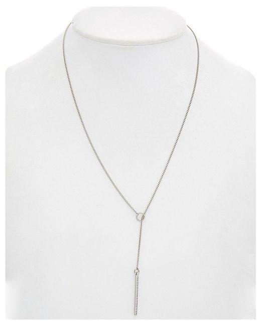 Rebecca Minkoff - Metallic Crystal Y Necklace - Lyst