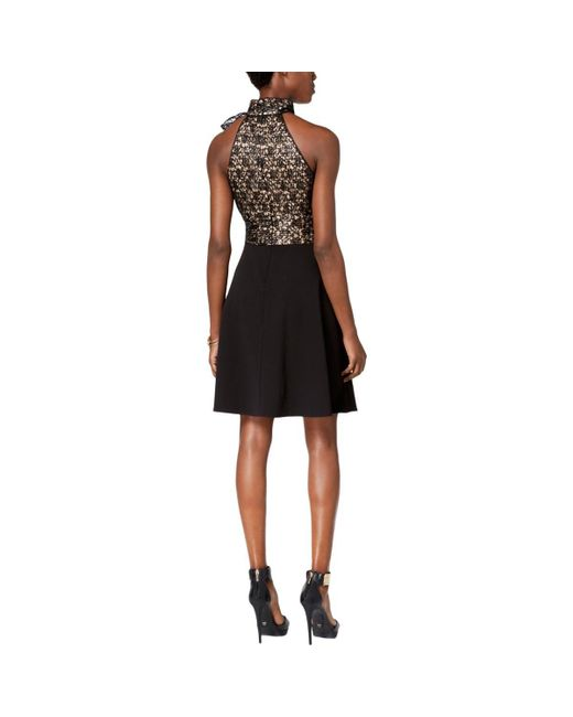 9d16782eac38f ... Betsey Johnson - Black Womens Lace Sequenced Casual Dress - Lyst