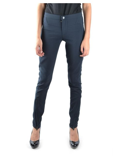 Marc By Marc Jacobs - Women's Blue Polyester Pants - Lyst