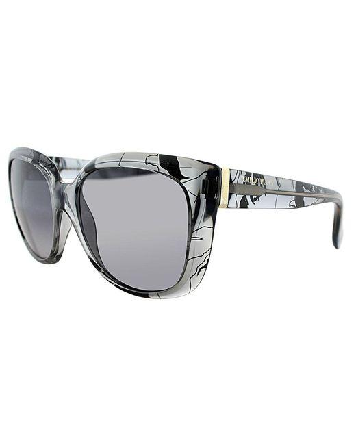 Emilio Pucci - Gray Ep 740s 35 Grey Pucci Print Cat-eye Sunglasses - Lyst