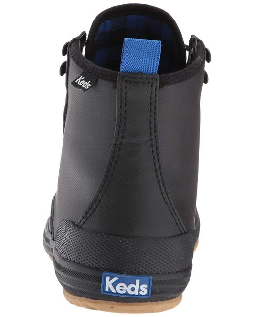7e83fb22b0b9 Lyst - Keds Women s Scout Splash Wx Fashion Sneaker in Black